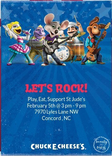 evite for St Jude Fundraiser at Chuck E. Cheese's-2