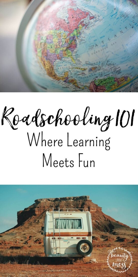 What is roadschooling? It's homeschooling while you're on the road. Roadschooling is a flexible option that works well for all ages and learning abilities. via @simplifyingfamily