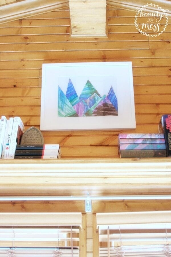 DIY Mountain Artwork - Beauty in the Mess