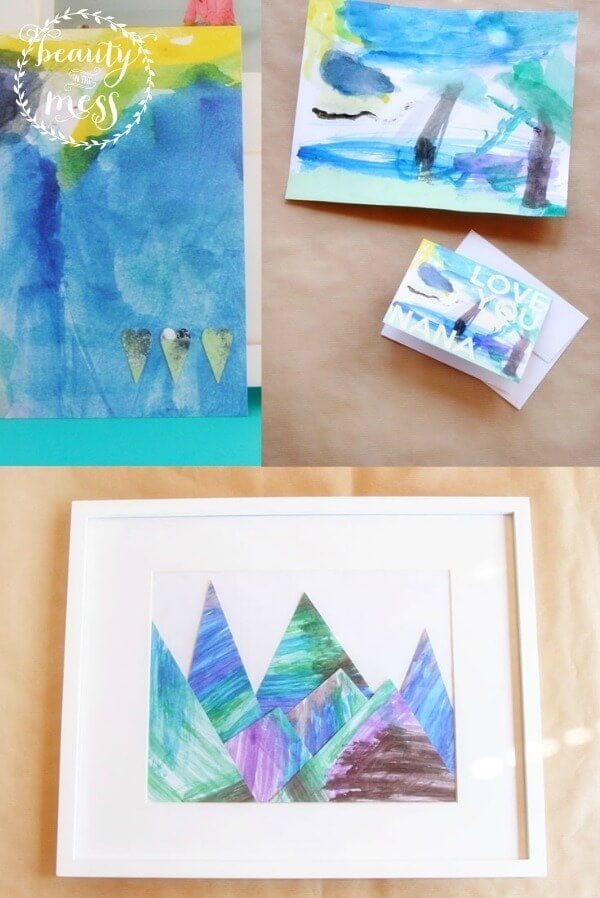 creating art from children's paintings - beauty in the mess