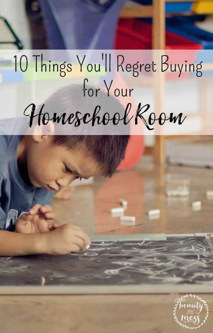 Do you have these items in your homeschool room?  These 10 things simply aren't worth the mess and frustration. via @simplifyingfamily