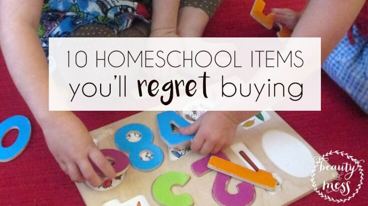 10 homeschool items you'll regret buying