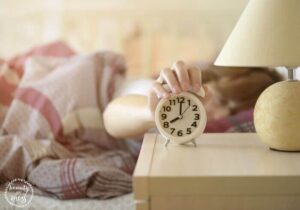 Hit snooze on clock