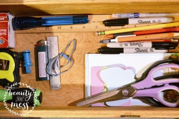 Clean Junk Drawer - Beauty in the Mess