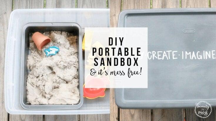 DIY Portable Sandbox FB