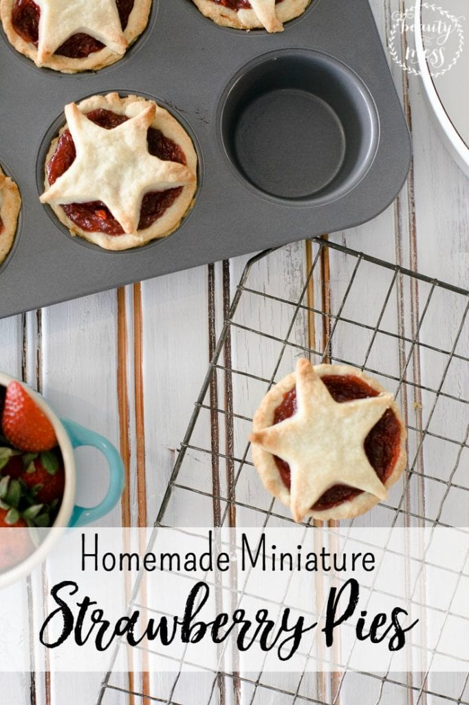 Homemade Miniature Strawberry Pies