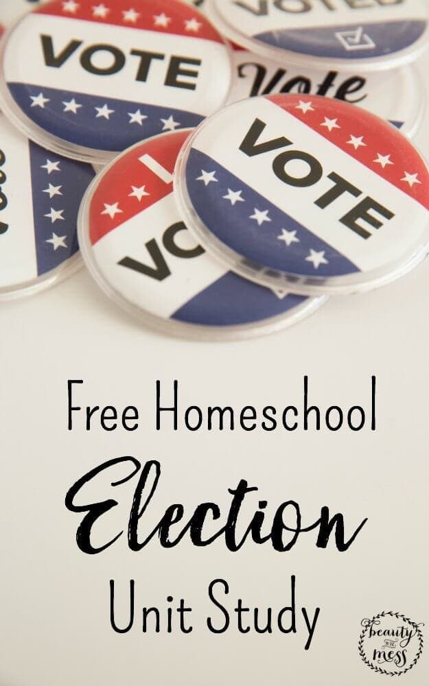 Whether we agree with the candidates or not, learning about the electoral process is important. There are so many ways to introduce your children to the concept of Election and what it means in the United States of America. If you are looking for resources on teaching your children about the up coming election, this Election Unit Study is for you.