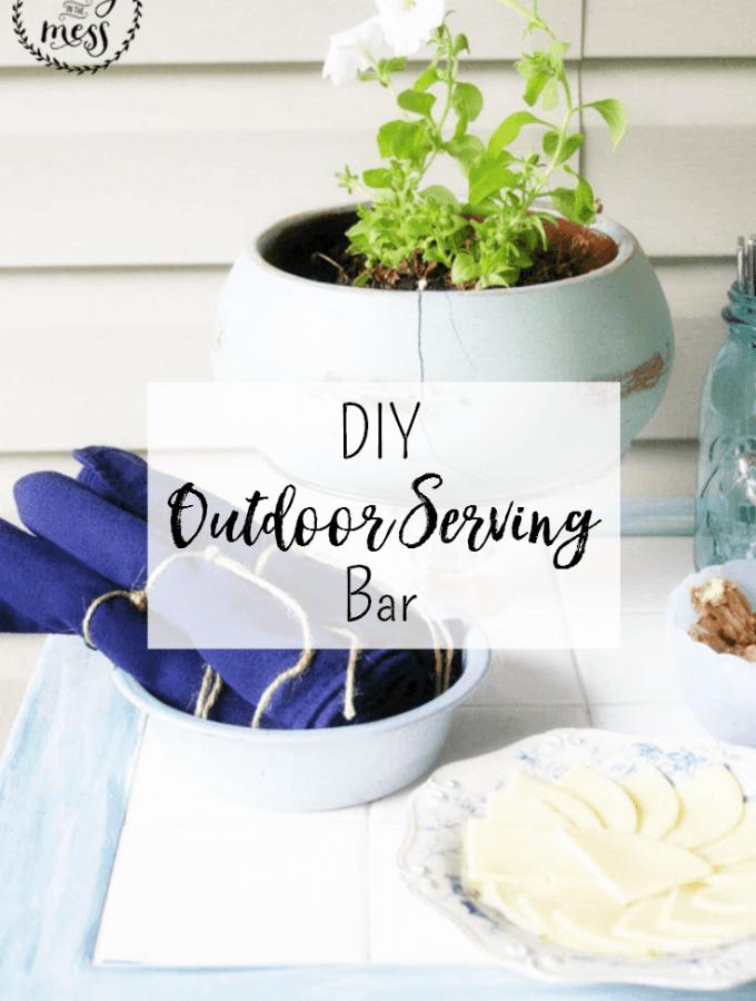 DIY Outdoor Serving Bar