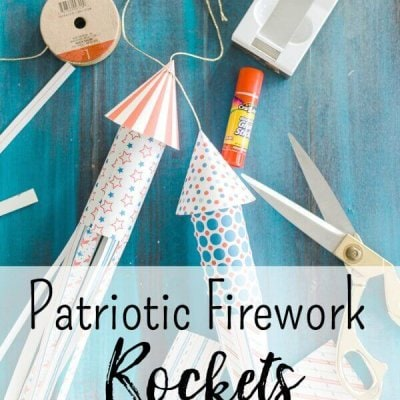 Patriotic Paper Towel Roll Firework Rockets for the 4th of July