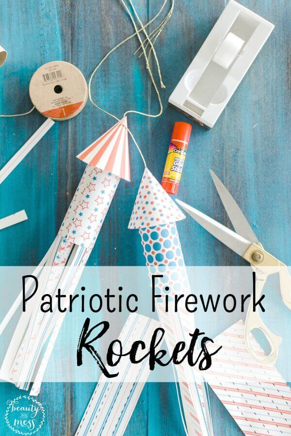 Create your own patriotic firecracker rockets with these super cute free printables to celebrate the 4th of July!We've designed a super cute printable that your kids can cut out and stick together to create their very own 4th of July firework rockets!