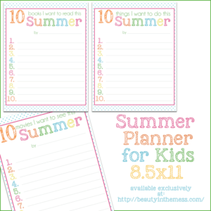 Summer Planner for Kids