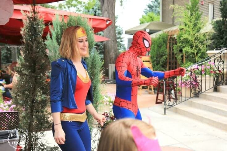 Spiderman and Wonder Woman