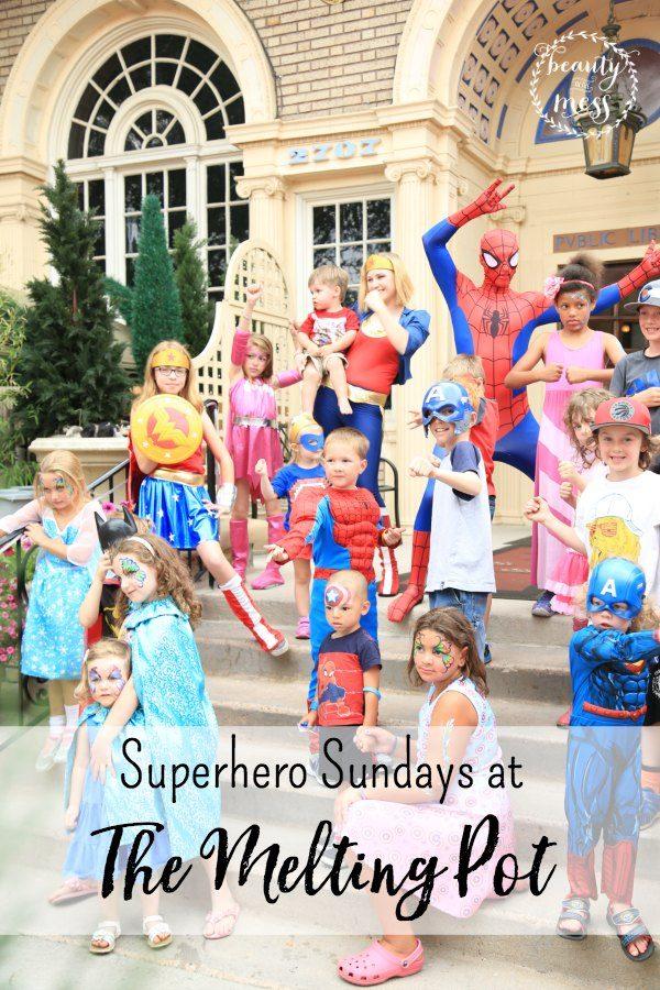 Superhero Sundays at The Melting Pot
