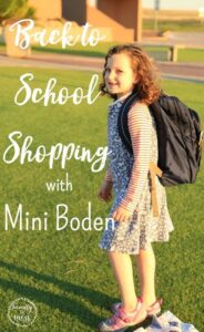 Back to School Shopping with Mini Boden