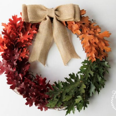 Simple and Rustic Fall Wreath Tutorial