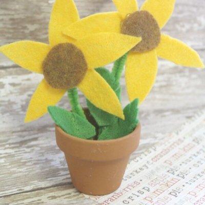 Felt Sunflower Craft for Kids