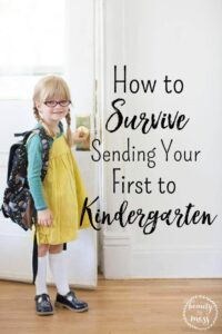 How to Survive Sending Your First to Kindergarten
