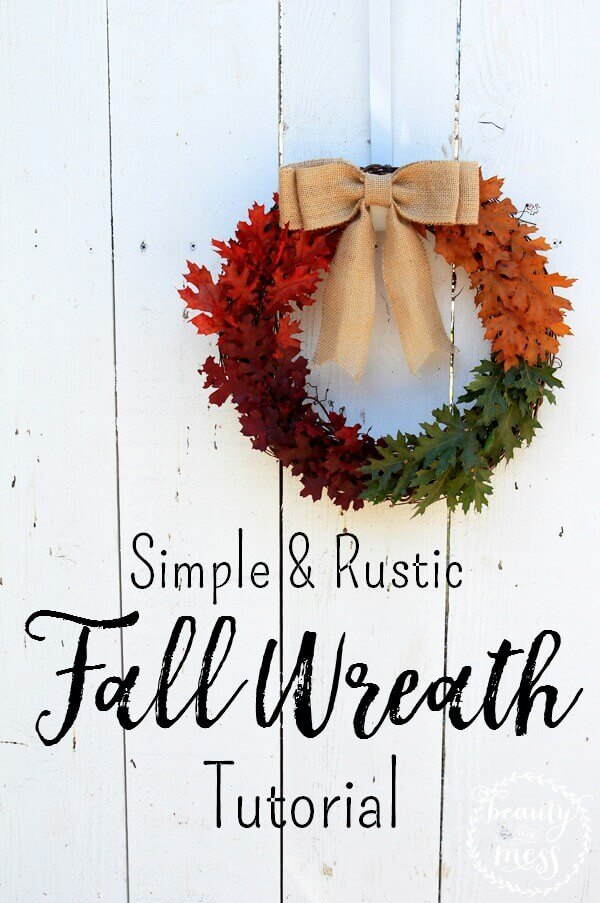 With this easy tutorial for a rustic fall wreath, you can bring the colors of fall to your home, no matter where you live!