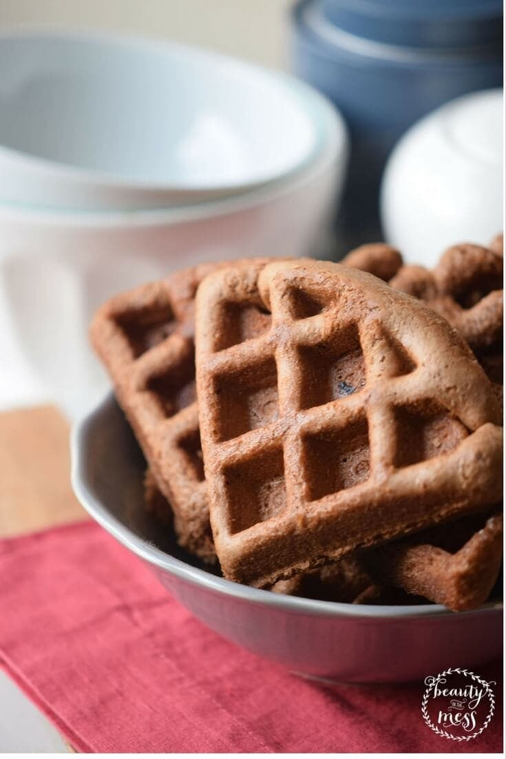 These Hazelnut Waffles are super easy to cook, packed with flavor and good for you ingredients. It's also incredibly filling and keep you fueled for the day.