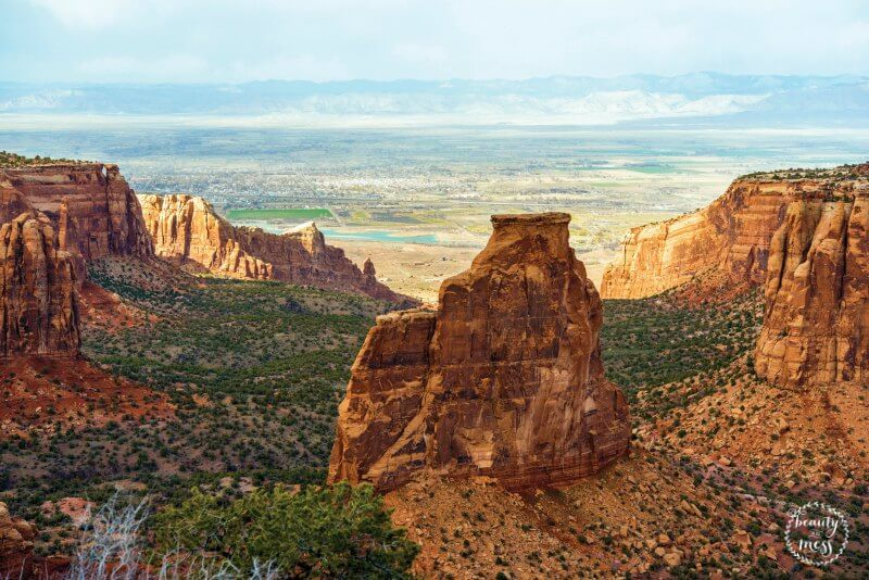 Colorado Monument Landscape near Grand Junction, Colorado, United States.