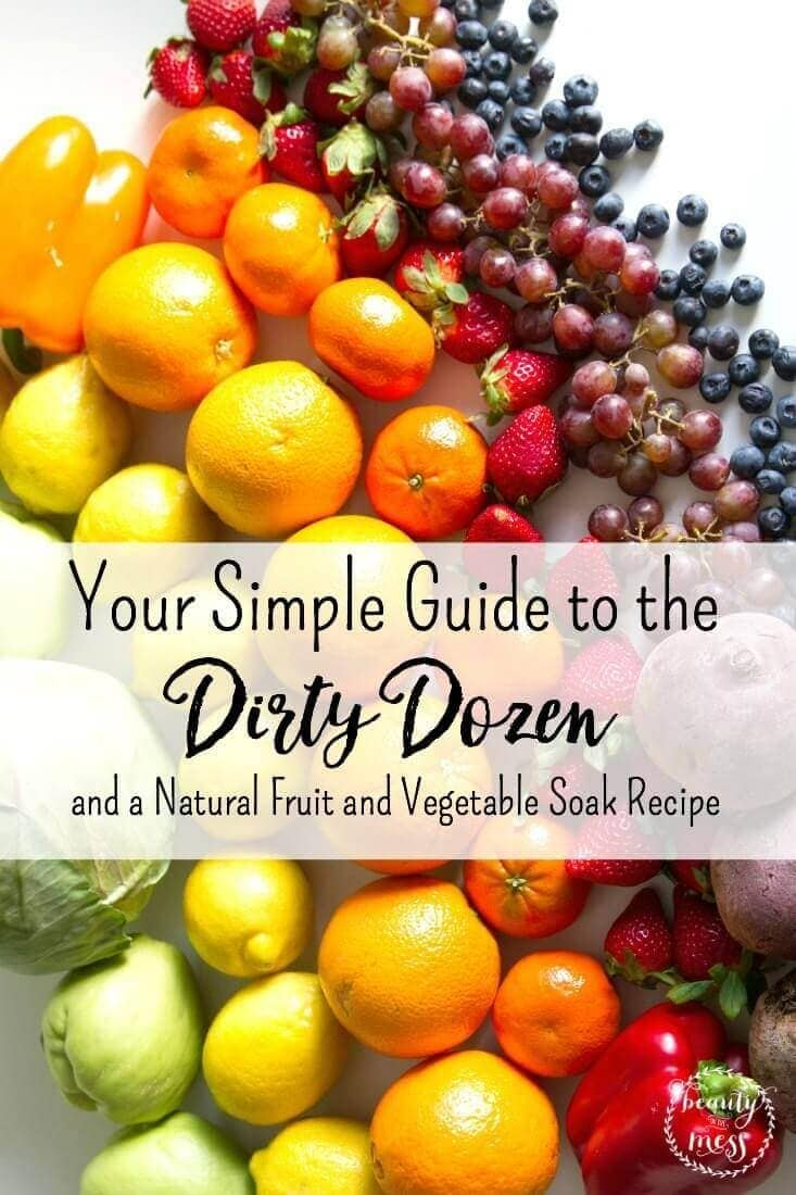 Your Simple Guide to the Dirty Dozen and a Natural Fruit and Vegetable Soak Recipe