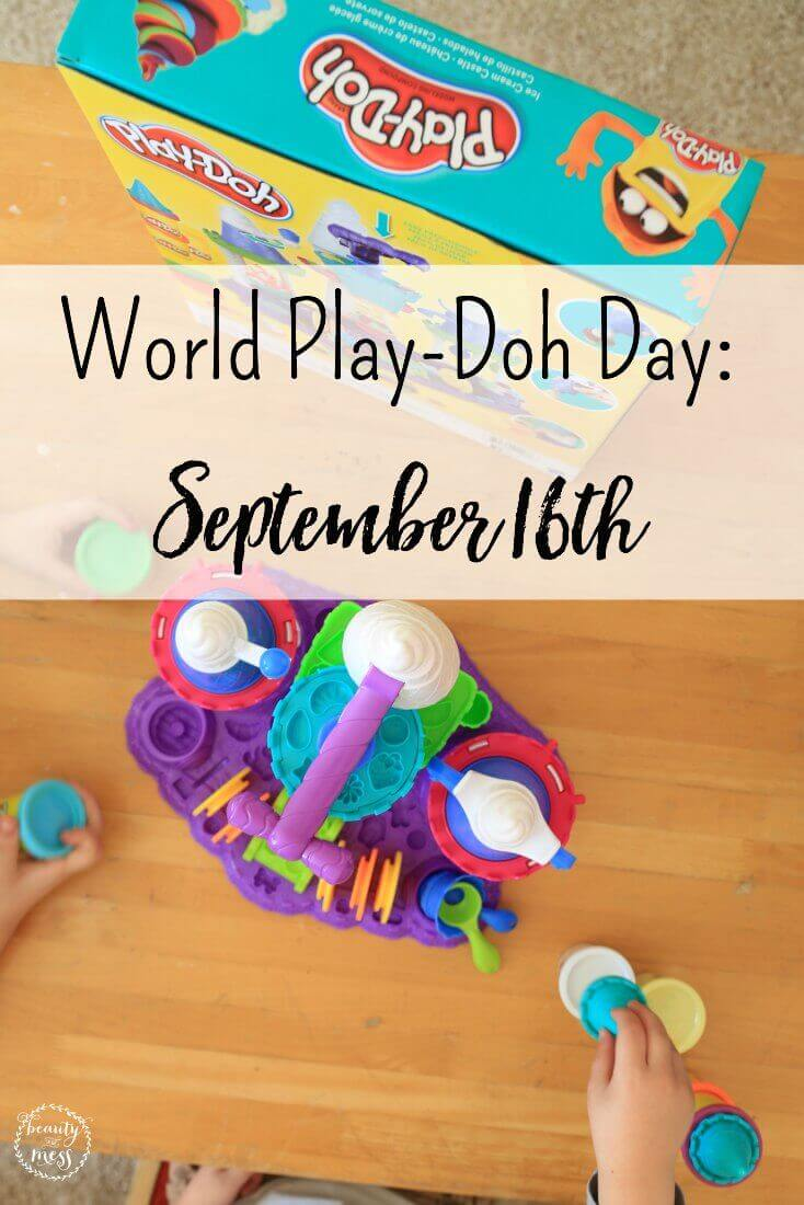 September 16th 2016 is World PLAY-DOH Day! It is amazing that the stuff I played with as a child has taken the world by storm. World PLAY-DOH Day has actually been celebrated since 2006, but the brand itself was created in 1956. That means people like you and I have had the pleasure to play with PLAY-DOH for almost 60 years. The first few colors of the original invention of PLAY-DOH were red, yellow, white, and blue. Not you can find almost every color under the rainbow. I love that PLAY-DOH is still made with three very simple ingredients (water, salt, and flour). AD