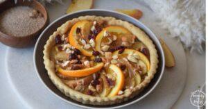 Gluten-free and Sugar-free Spiced Apple and Orange Pie
