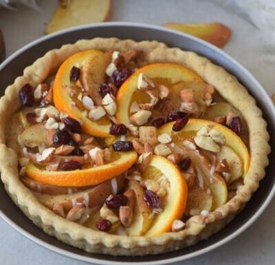 Gluten-free and Sugar-free Spiced Apple and Orange Pie