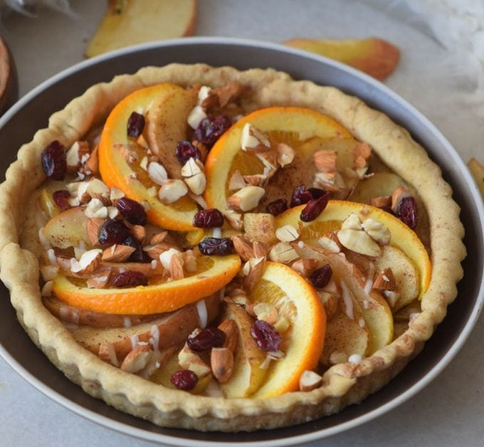 Spiced Apple and Orange Pie