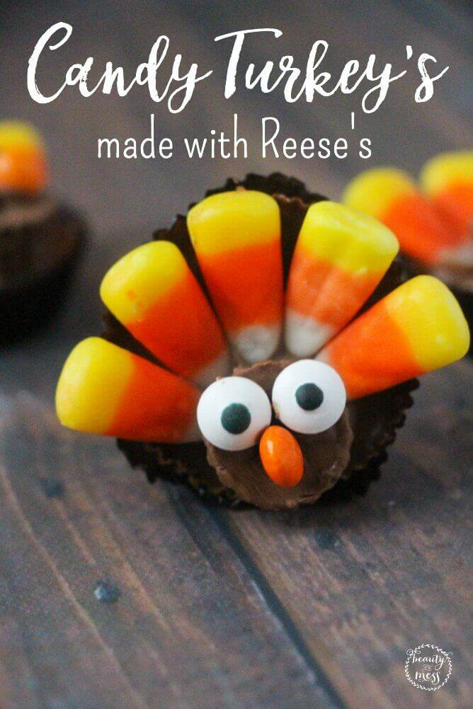 These candy turkeys are easy to assemble and adorable. The perfect addition to your Thanksgiving celebrations with family and friends.