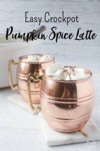 Easy Crockpot Pumpkin Spice Latte for Your Next Gathering