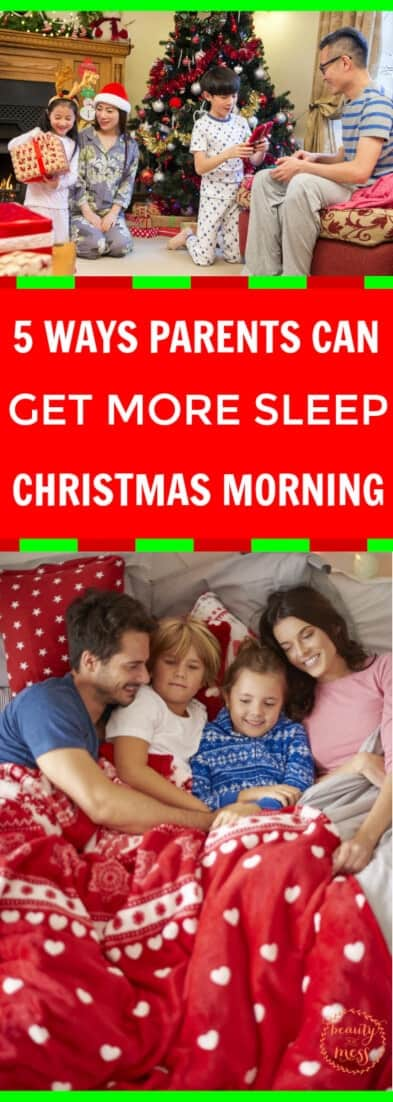Don't miss these tips for getting a few more moments of shut-eye before the big event. Parents, you can get more sleep Christmas morning.  via @simplifyingfamily