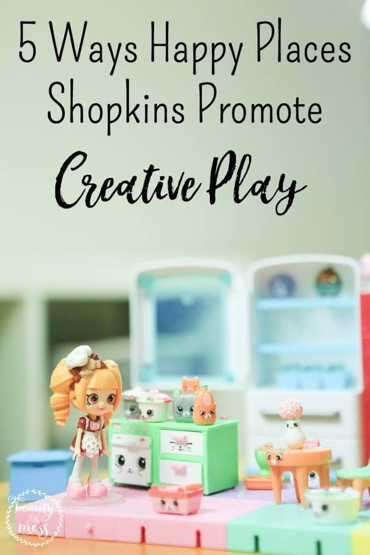 Toys that promote creative play with hours of fun and no screen time? Happy Places Shopkins and Lil' Shoppies from Moose Toys are perfect. via @simplifyingfamily
