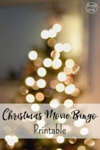 Christmas Movie Bingo Printable and an Amazon Giveaway