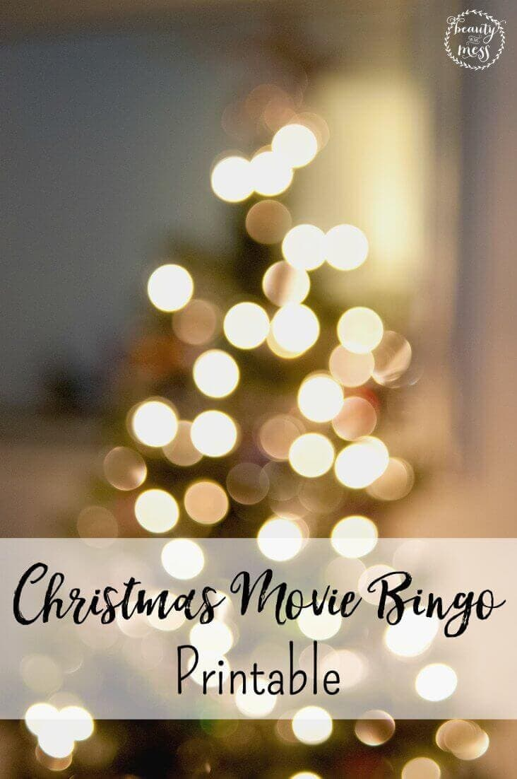 This Christmas Movie Bingo Printable will help you keep track of which movies you have watched during Family Movie Night during the Holidays via @simplifyingfamily
