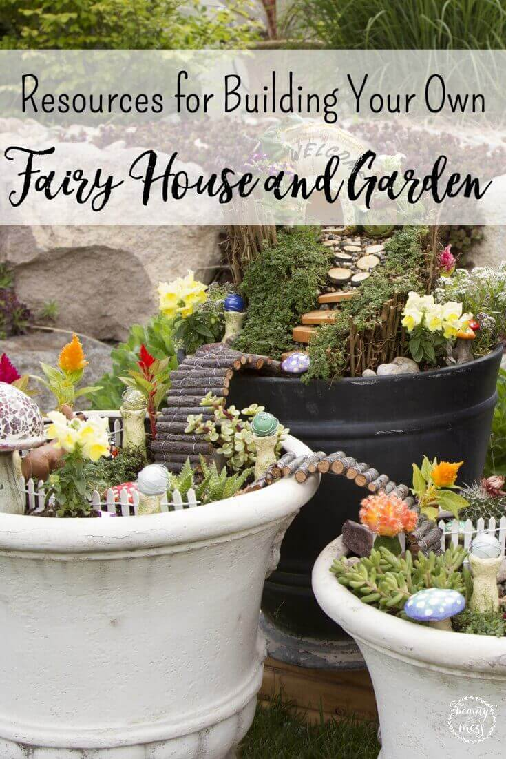 Bring the wonder of fairies to your own backyard with this resource list to make your own Fairy House and Fairy Garden.  via @simplifyingfamily