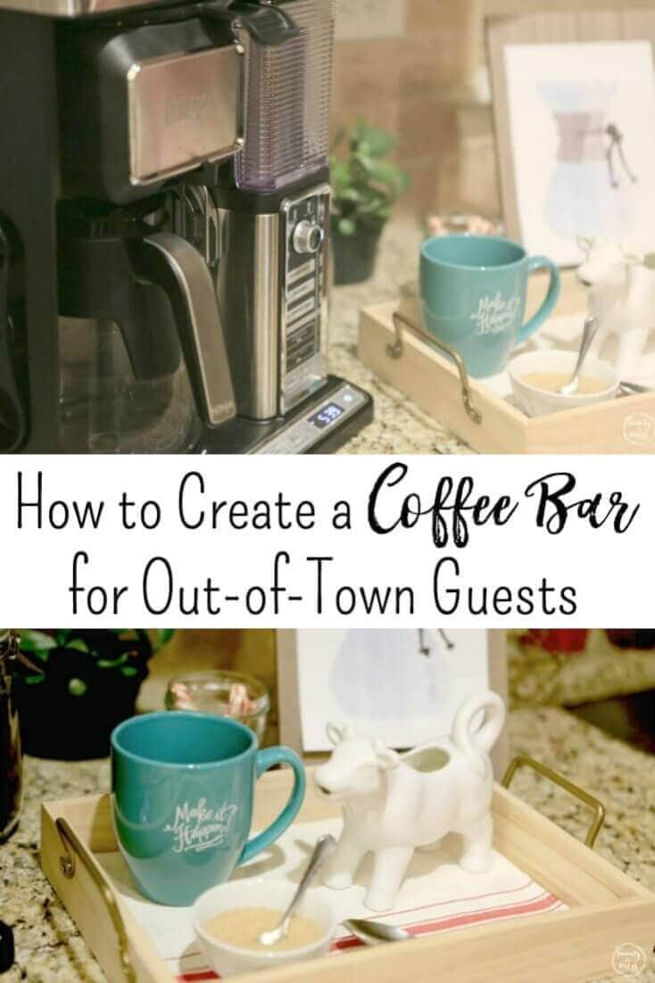 AD: How to create a simple coffee bar for your guests with @NinjaCoffeeBar . Hospitality at it's finest. #NinjaBarista #IC #ad via @simplifyingfamily
