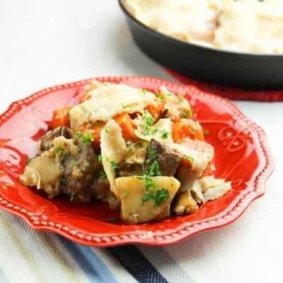 Cast Iron Skillet Beef and Potato Pie