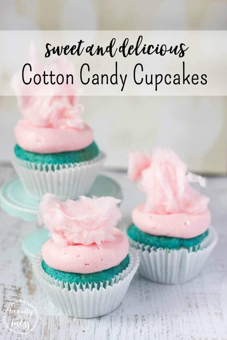 These sweet and delicious cotton candy cupcakes will be the hit of the party. Perfect for birthday parties, baby showers, or just because.