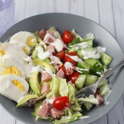 The Perfect Summer Cobb Salad with Homemade Dressing