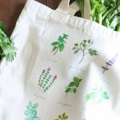 Make Your Own DIY Market Tote for the Farmer's Market