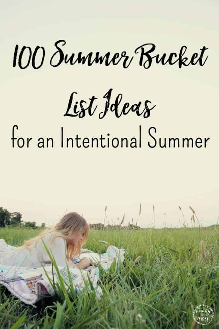 Summer Bucket List: 100 fun ideas to help you brainstorm ways to make memories this Summer, making this a memory-making summer your family will never forget.