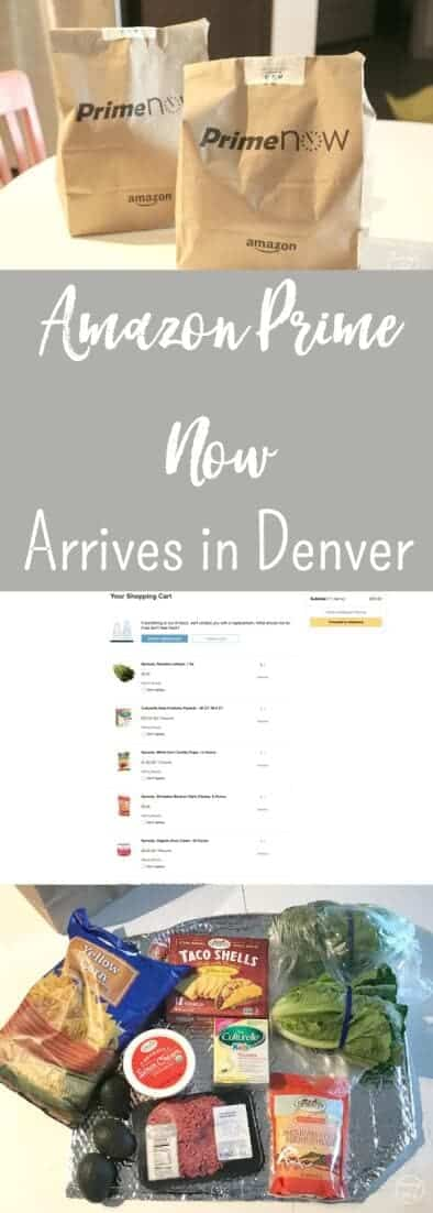 Prime Now has launched in Denver Colorado. Amazon Prime members can skip a trip to the store, having their grocery and household list delivered. via @simplifyingfamily