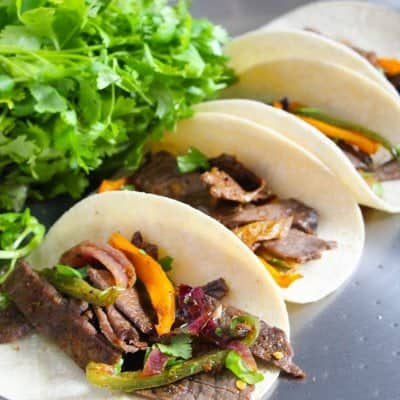 One Pan Steak Fajitas for Less Mess in the Kitchen