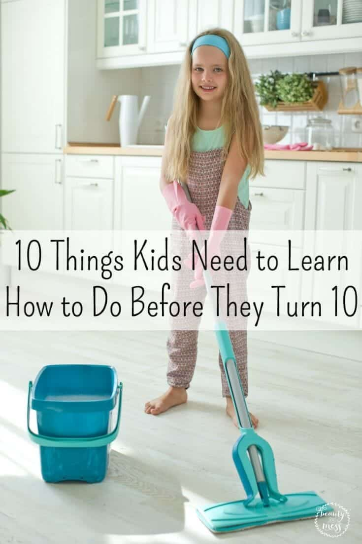Teaching life skills to our children helps build the foundation for adulthood. Don't miss these 10 things every child should know how to do before turning 10.