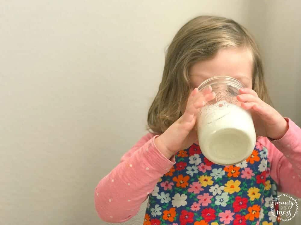 Enfagrow drinking milk toddler