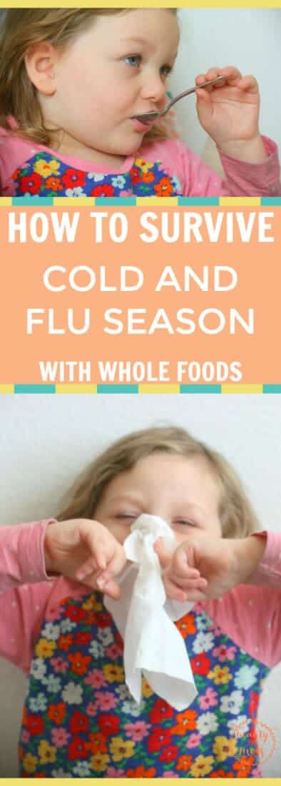AD: Don't miss these 11 tips on surviving cold and flu season with your family this year with whole foods. Includes a free printable grocery list. via @simplifyingfamily