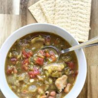 Colorado Hatch Green Chili with Pinto Beans