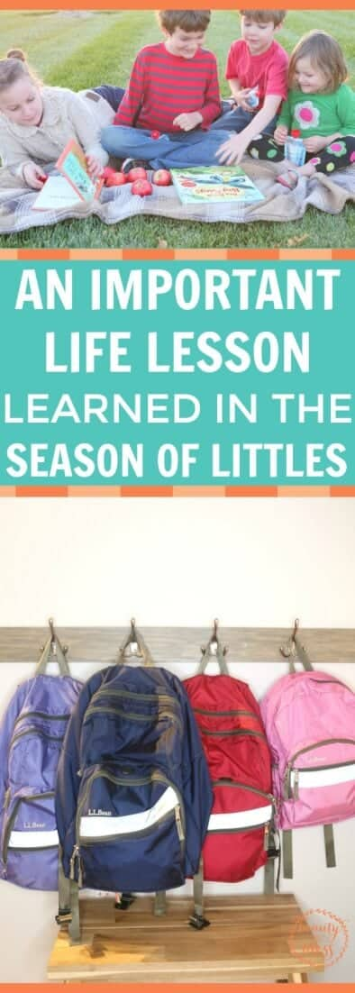 Life is busy. We have to be intentional with our time or it will slip through our fingers. Don't miss this important life lesson that was learned in the season of little kids at home. Going beyond savoring and making an intentional choice will make a difference in your relationship with your children.