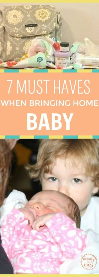 What exactly do you need when it's time to bring home baby? Here's a list of seven things you will need when it's time to bring home baby from the hospital. #newborn #motherhood #babymusthaves